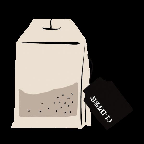 string and tea bag