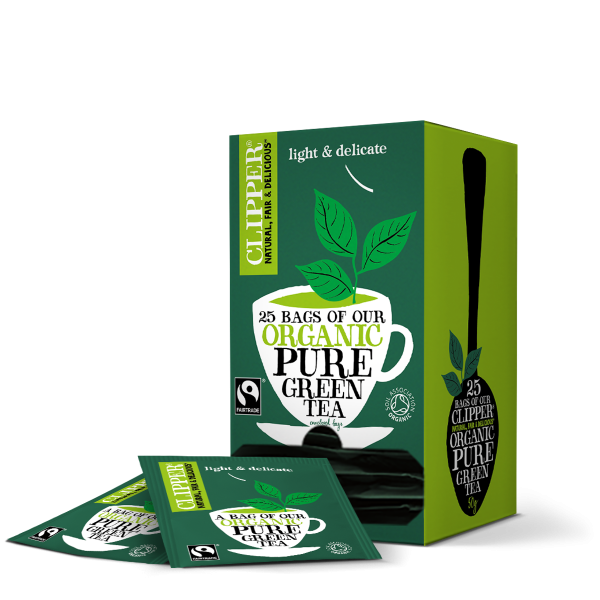 Pure green string and tag tea